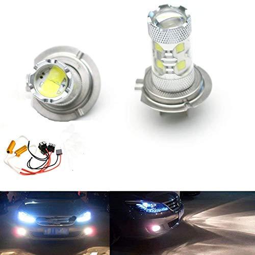 Asuman 2 pcs HID Blanc 50 W H7 10 CREE LED Vidéoprojecteur ampoules Feux de Brouillard CANBUS Décodeurs