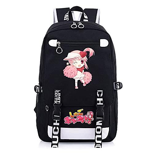 JXEXF Shugo Chara School Canvas Bookbags Zaino Vintage, Viaggio alla Moda Casual Zaino Sport Daypack (Color : Black, Size : 48 * 30 * 15cm)