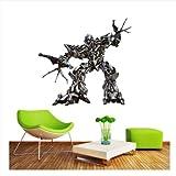 WXQIANG Pared 3D de la Etiqueta engomada de Surper héroe Bumblebee Transformers Robot Optimus Prime Animado murales de Papel Tapiz Decorativo Auto-Adhesivo de la Pared del Sitio Chilsren 60x40cm