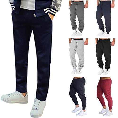 LAIQIAN Herren Casual Jogginghose Slim Fit Sporthose Baumwolle Streetwear Hose Freizeithose Jeans Trainingshose Cargo Pants Sweatpants Jogger Mode Freizeit Laufen Beinabschluss