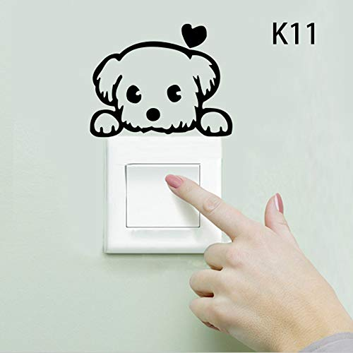 paomo Pegatina de pared para interruptor de luz, interruptor de vinilo, divertido interruptor de luz para habitación de niños, bricolaje (Panda A)
