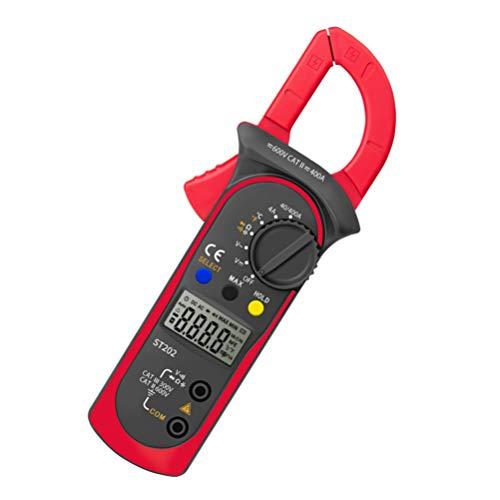 UKCOCO Multímetro Digital con Abrazadera- Probador Electrónico Profesional Multifunción Lcd de Rango Múltiple para La Prueba de Voltaje/Corriente/Diodo
