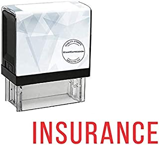 StampExpression - Insurance Office Self Inking Rubber Stamp - Red Ink (A-5725)
