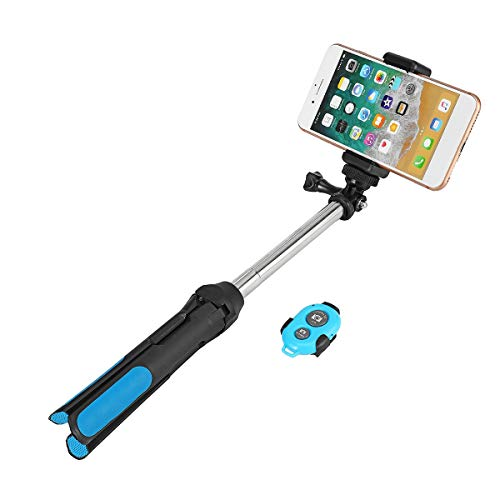 Duyifan 3in1 Opvouwbare bluetooth Selfie Stick Statief Stand voor Gopro met Afstandsbediening Uitschuifbare Telefoon Statief voor DVR Sport Camera