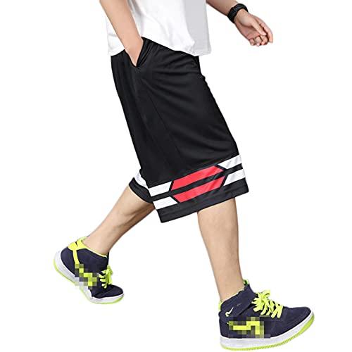 YUEMO Pantalones cortos de baloncesto de la NBA para hombre, de verano, 3/4, 13, XXXXL