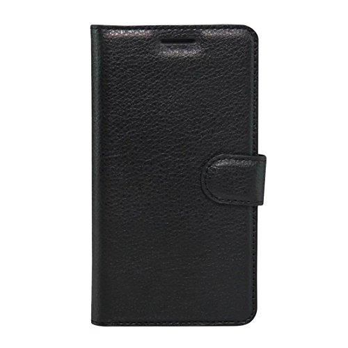 Nuevo for Lenovo VIBE K5 Litchi Texture Horizontal Flip Funda de cuero genuino con soporte y ranuras for tarjetas y billetera (Negro) Shiningxie (Color : Black)