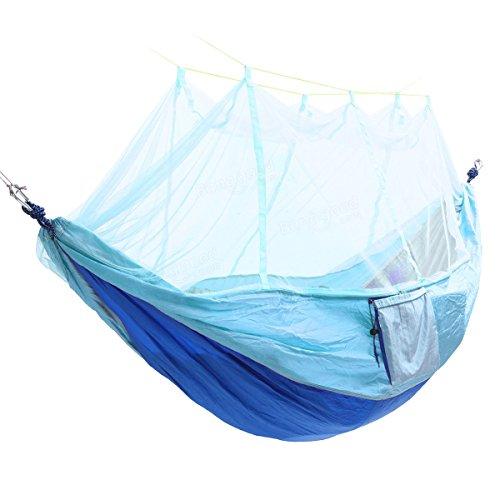 A-hyt hängematte Outdoor Tragbare Doppel Moskitonetz Hängematte Swing Bett 2 Person Hängen Ruhestreifen komfortabel und langlebig (Color : #4)