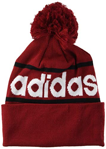 adidas Woolie with Pompom Apparel Accessories, Hombre, Active Maroon/Black/White, Única