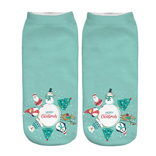 SHE.White 1 Paar Unisex Weihnachtssocken Christmas Socks Weihnachtsmotiv Weihnachten Festlicher Baumwolle Socken Mix Design für Damen und Herren Stricksocken Viele Farben