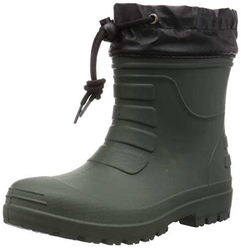 [コーコス信岡] 作業長靴 レインブーツ 超軽量 ショート丈 ハイブリッドEVA 男女兼用 ジプロア グリーン 23.5~24.0 cm 3E
