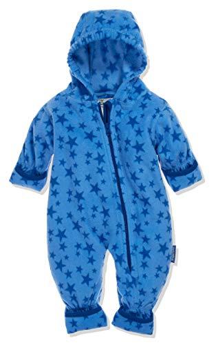 Playshoes Baby-Unisex Fleece-Overall Sterne Schneeanzug, Blau (Blau 7), 74