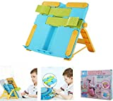 FEELING MALL Book Stand for Kids, Foldable Adjustable Portable Reading Book Holder Stand, Cookbook Stand,Document Stand, Music Song Score Stand, Magazine Stand