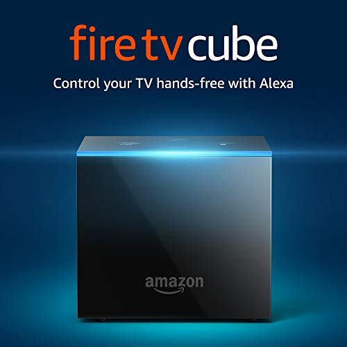 Fire TV Cube (1st Gen), hands-free with Alexa and 4K Ultra HD and 1st Gen Alexa Voice - Previous Generation