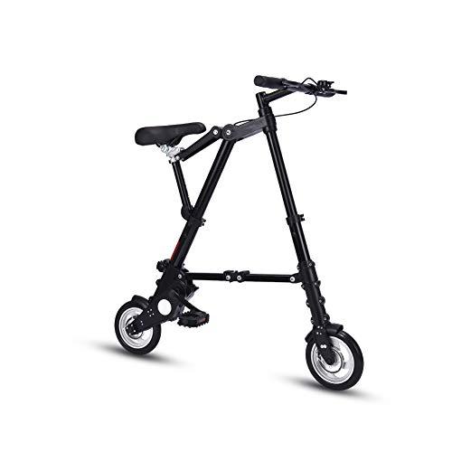LCLLXB Ultra Ligero 8' Mini Bicicleta Plegable Portátil al aire libre Transit Vehículos Plegables, A