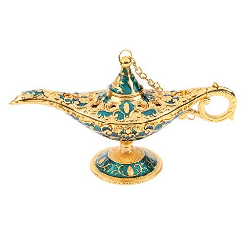 SDENSHI Aladdin Magic Genie - Lámpara de techo, color dorado y azul