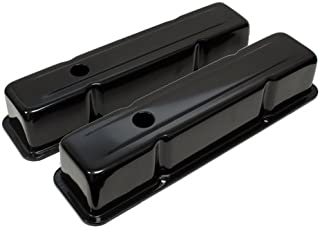 1958-86 Compatible/Replacement for CHEVY SMALL BLOCK 283-305-327-350-400 TALL STEEL VALVE COVERS - BLACK