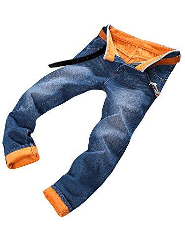 (ネルロッソ) NERLosso 裏起毛 ジーンズ ジーパン メンズ 暖パン 裏フリース 暖かい 防寒 裏ボア デニム パンツ Gパン メンズジーンズ ズボン ボトムス ロングパンツ 正規品 32 ブルー521 cmg24348-32-bu521