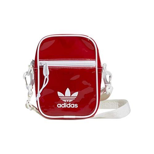 adidas Originals Getönte Festival Umhängetasche, Unisex-Erwachsene, Originals Tinted Festival Crossbody, Lush Red/White, Einheitsgröße