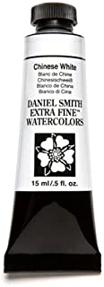 Daniel Smith Extra Fine Watercolor 15ml Paint Tube, Chinese White, 15 ml