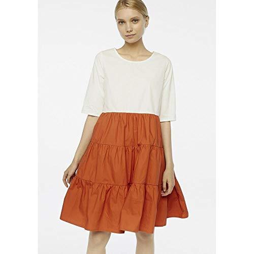 Compania Fantastica SP20HAN107 Marrone Femme Dress Bianco, Coccio CF6361