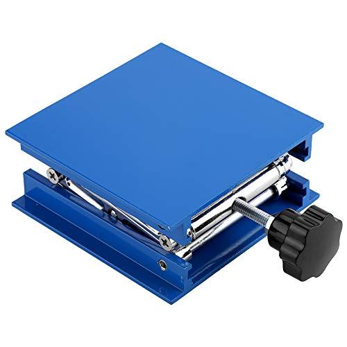Akozon Lab hefplatform 100 x 100 mm blauw gegalvaniseerd aluminium standaard rack schaar Jack Lifter