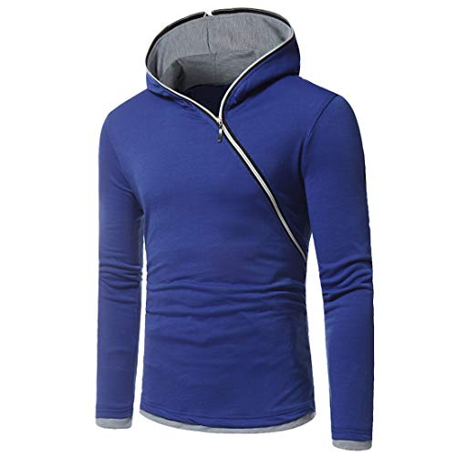 MENSU Sweatshirt Pullover for Men Long Sleeve Side Zipper Up Slim Fit Hooded Hoodie Sportswear for Gym Running Workout Mens Casual Fashion Cotton Linen Solid Color Sweater Jumper Tops Coat Jackets