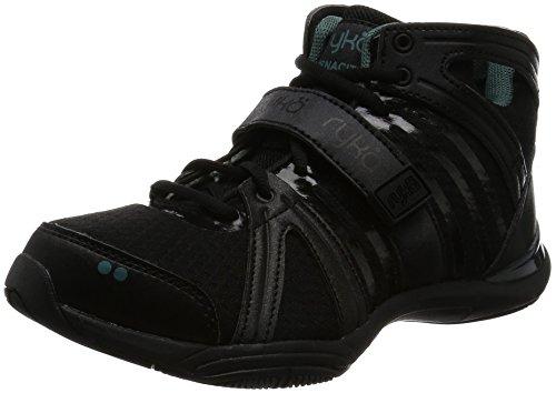 Ryka Women's Tenacity Cross-Trainer Shoe, Black/Green, 8.5 M US