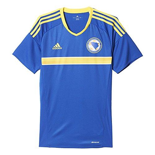 adidas Herren Bosnien Herzegowina Heimtrikot Replica Kurzarm, Bold Blue/Bright Yellow, S