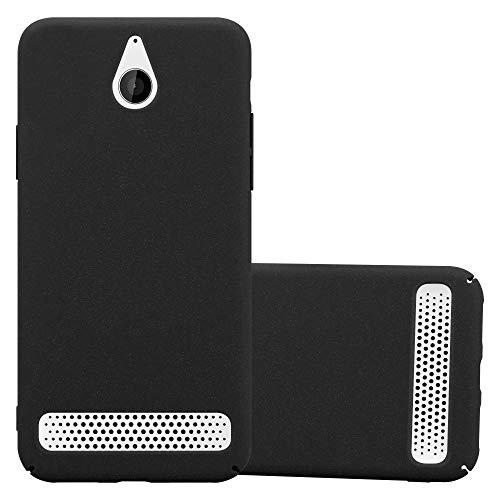 Cadorabo Hülle für Sony Xperia E1 in Frosty SCHWARZ - Hardcase Handyhülle aus Plastik gegen Kratzer & Stöße - Schutzhülle Bumper Ultra Slim Back Hülle Hard Cover
