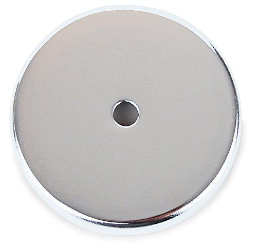 Rundmagnet 81 x 10 mm bis 43 kg, 1 Stück, Starker Magnet rund, verchromt