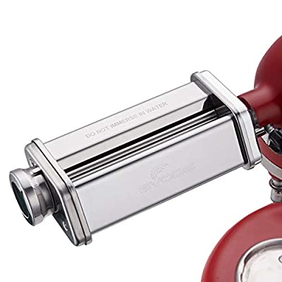 Pasta Sheet Roller Attachment for KitchenAid Stand Mixer, Stainless Steel Pasta Maker Machine Accessories by Gvode