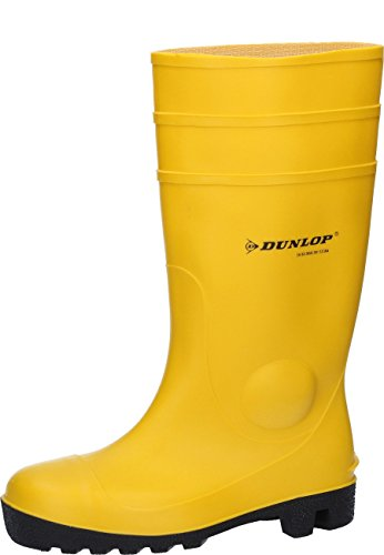 Dunlop Protective Footwear Unisex-Erwachsene Protomastor Full Safety Gummistiefel, Gelb, 44 EU