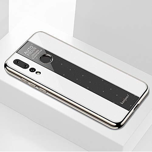 A/M Huawei-Handyfall JRC Galvanispiegelglas-Fall for Huawei Nova 4 (schwarz) Huawei Erweiterte Stoß- Rückfall (Color : White)