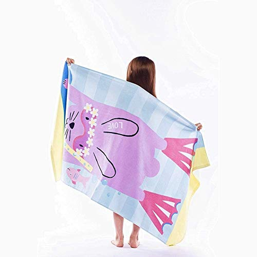 MZQQ Kids Beach Towel Large Bath Towel Blanket for Travel Swimming Camping and Picnic (Color : Pink)