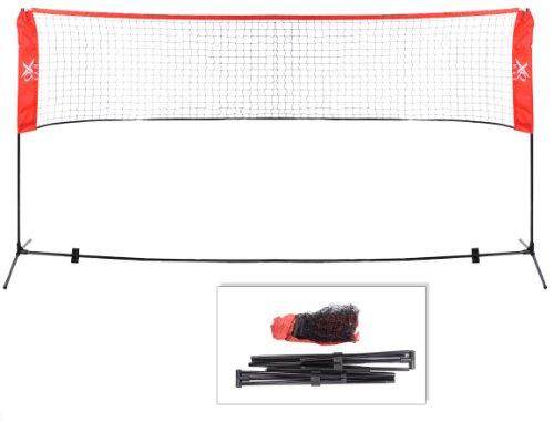 xQMax Mini-Netz für Tennnis / Volleyball / Badminton, erhältlich in 3m oder 4m Schwarz / Rot 4 Metre Wide