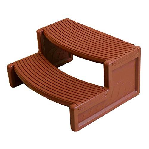 Confer Plastics Resin Multi Purpose Spa Hot Tub Handi-Step Steps, Redwood