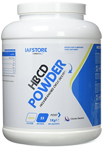 Iafstore Supplements HBCD Powder Integratore Alimentare di Carboidrati , Limone - 1000 g