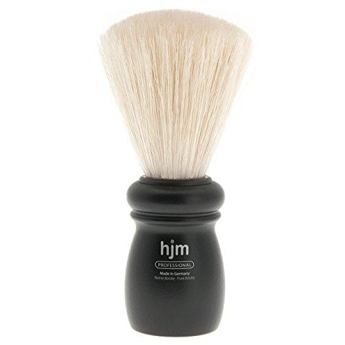 Hjm Pinceau Barbier en poils purs et manche en hêtre Noir Taille XL