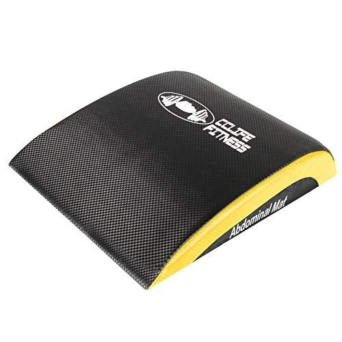CCLIFE Ab Tappetino Addominale tappetini per Il Fitness, Sit Up Support Pad, Colore:Nero e Giallo