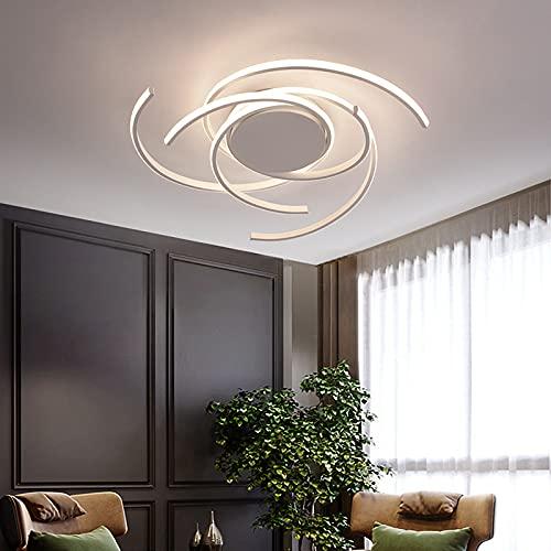 Plafon Led Techo Regulable Moderno Grandes Lampara De Techo Y Mando A Distancia Led 72W Iluminación Interior Para Dormitorio Salon Cocina Oficina,Blanco