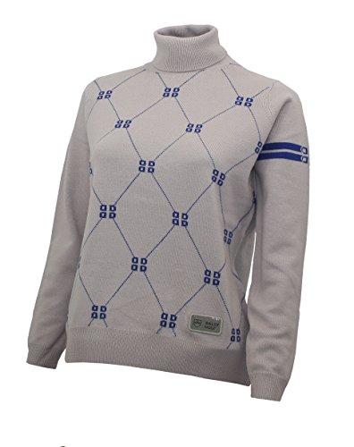 Bally Golf Rollkragen Pullover Ladies Silver Grey/Palace Blue (40)