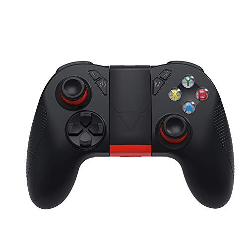 GIHI Controlador PS3, Controlador Inalámbrico Gamepad para PS3 PC Smartphone Bluetooth Gamepad Joystick Controlador para PC / PS3 / Smart TV/Smartphone con Soporte para Teléfono