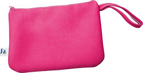 Fa Sommer Bikini Strandtasche mit Reißverschluss in pink, 1er Pack (1 x 1 Stück)