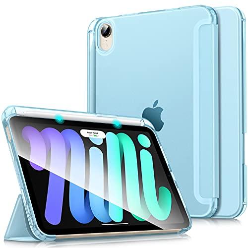 """Dadanism Funda Compatible con iPad Mini 6 8,3"""" 2021, Protector de TPU Traslúcido Esmerilado Auto Estela/Sueño con Portalápiz Compatible con iPad Mini 6 8,3"""" 2021, Azul Claro"""