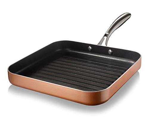 Gotham Steel Cookware, 10.5' Grill Pan, Brown