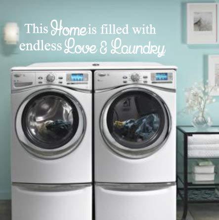 Dit huis is gevuld met eindeloze liefde en wasplaats, wasruimte, badkamer, modderruimte, vinylmuursticker, huisdecoratie, wasmachine, droger, schoon gemakkelijk aan te brengen en verwijderbaar