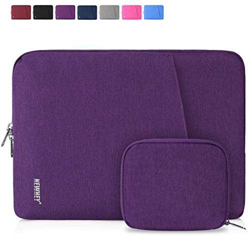 NEWHEY Laptop Sleeve Case 13-14 Inch Water Repellent Laptop Cover Bag Shock Resistant Notebook Protective Bag with Small Case Purple