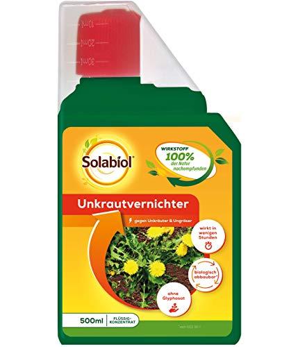 Solabiol Unkrautvernichter Wirkstoff 100 prozentig der Natur nachempfunden 500ml