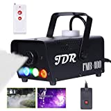 JDR Fog Machine with Controllable lights Smoke Machine Disinfection LED (Red,Green,Blue) with Wireless and Wired Remote...