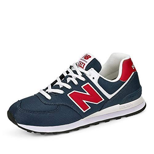 New Balance Herren 574v2 Sneaker, Grau (Grey/Red Scj), 40 EU